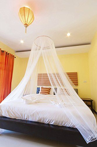 PearBlue Large Mosquito Net Bed Canopy | Insect And Pest Repellent |  Indoor/Outdoor Conical