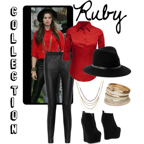 Ruby #2 by sallyrose2 on Polyvore featuring McQ by Alexander McQueen, Jeffrey Campbell, Miss Selfridge, rag & bone, Once Upon a Time and ouat