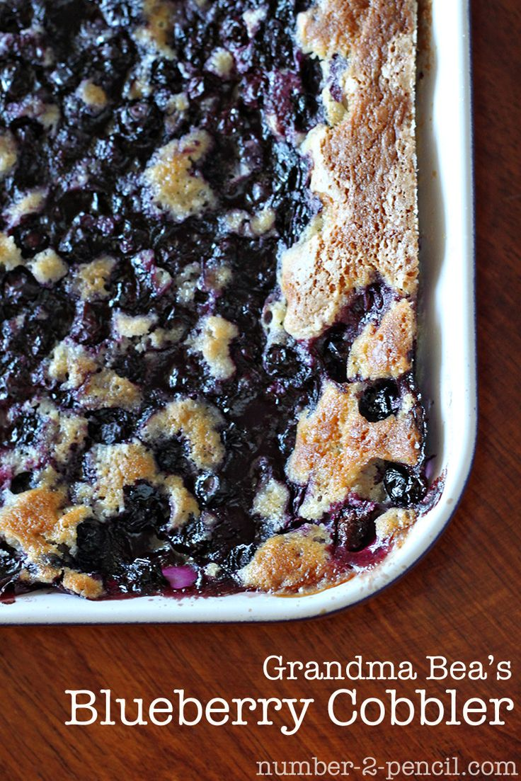 Grandma Bea's Blueberry Cobbler
