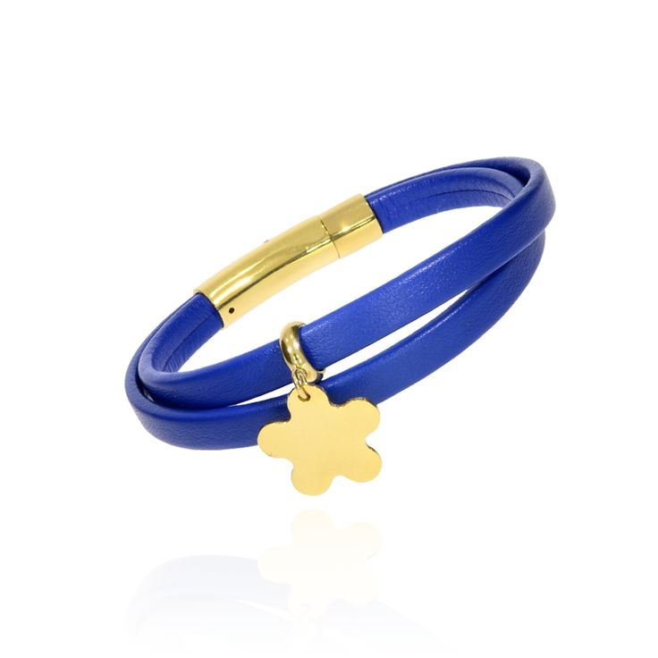 BRA 0037 - Niebieski - Aleksandra Strippentow Biżuteria Handmade