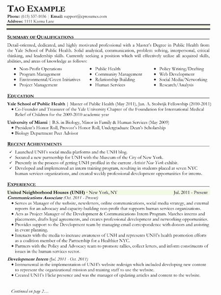 public health resume examples fresh public health resume