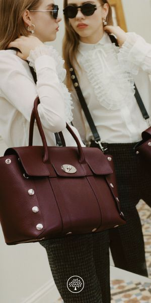 Shop the New Bayswater in Oxblood Smooth Calf with Studs at Mulberry.com. The Bayswater was launched in 2003 and is one of our most iconic bags. For the Winter collection the new Bayswater gets a punk-rock inspired makeover, with a 'deconstructed' silhouette and Johnny Coca's signature hardware, press studs.