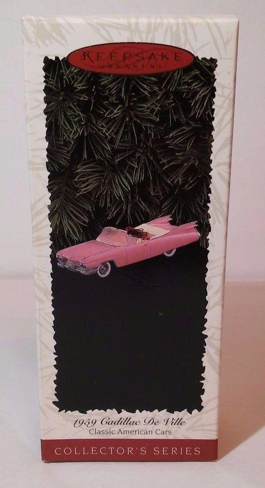 Hallmark Keepsake Ornament 1959 Cadillac De Ville Pink Classic American Cars #6