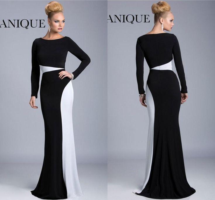 Long black and white formal dresses