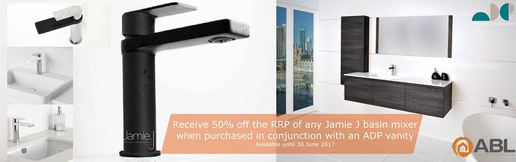 Receive 50% off RRP of any Jamie J basin mixer when purchased with an ADP vanity Instore only or call to place an order #whenqualitymatters