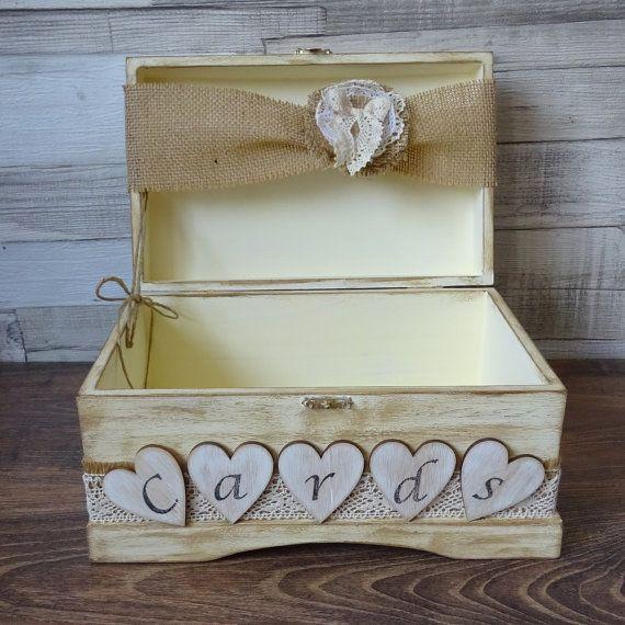 Wedding Card Box  Rustic Wooden Card Box  Rustic Wedding
