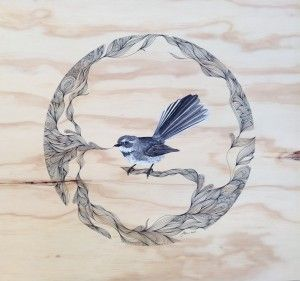 Fantail in pattern (Sold)