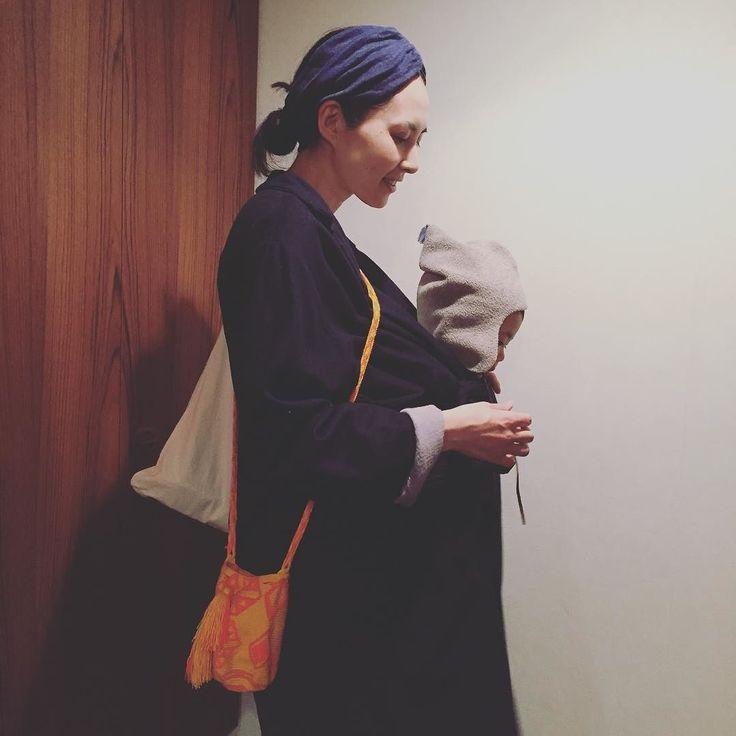 このコートはアーツアンドサイエンスでマタニティ用ではありませんが紐で結ぶタイプななで息子もすっぽりと入ります by hamaji_0912