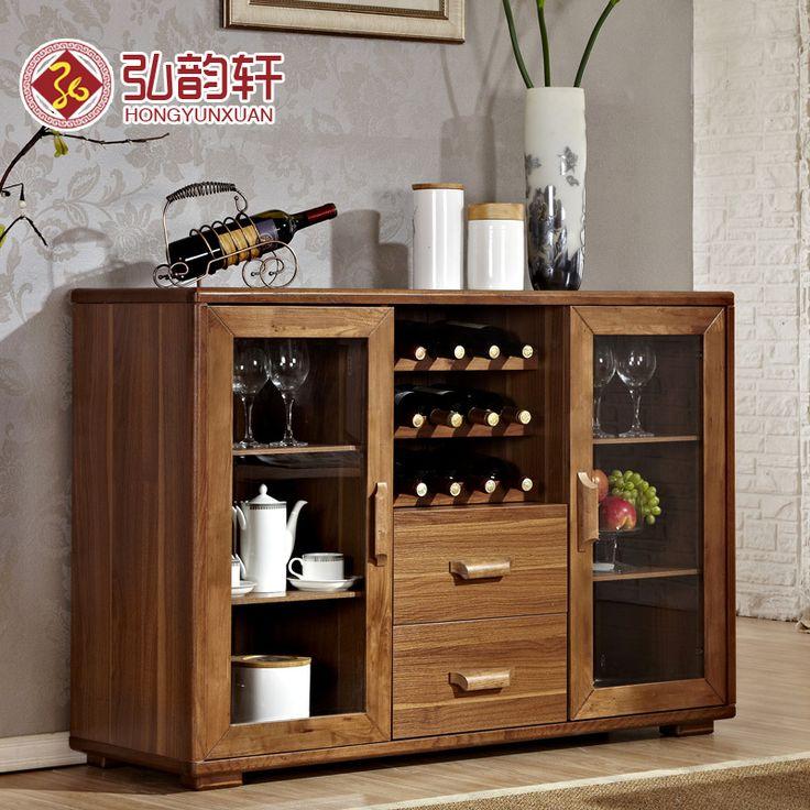 Moderno chino de madera aparador minimalista armarios de for Gabinetes de cocina modernos