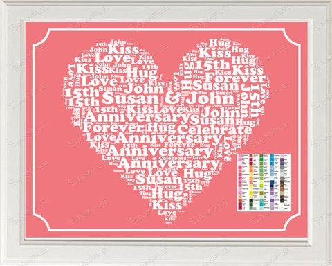Anniversary Gift Word Art Print