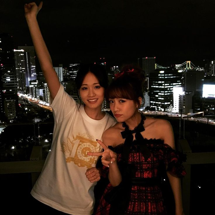 "27.3k Likes, 258 Comments - shinodamariko (@shinodamariko3) on Instagram: ""10年前は想像もしてなかった10年後✨#夜景が綺麗#あつみな#AKB48"""