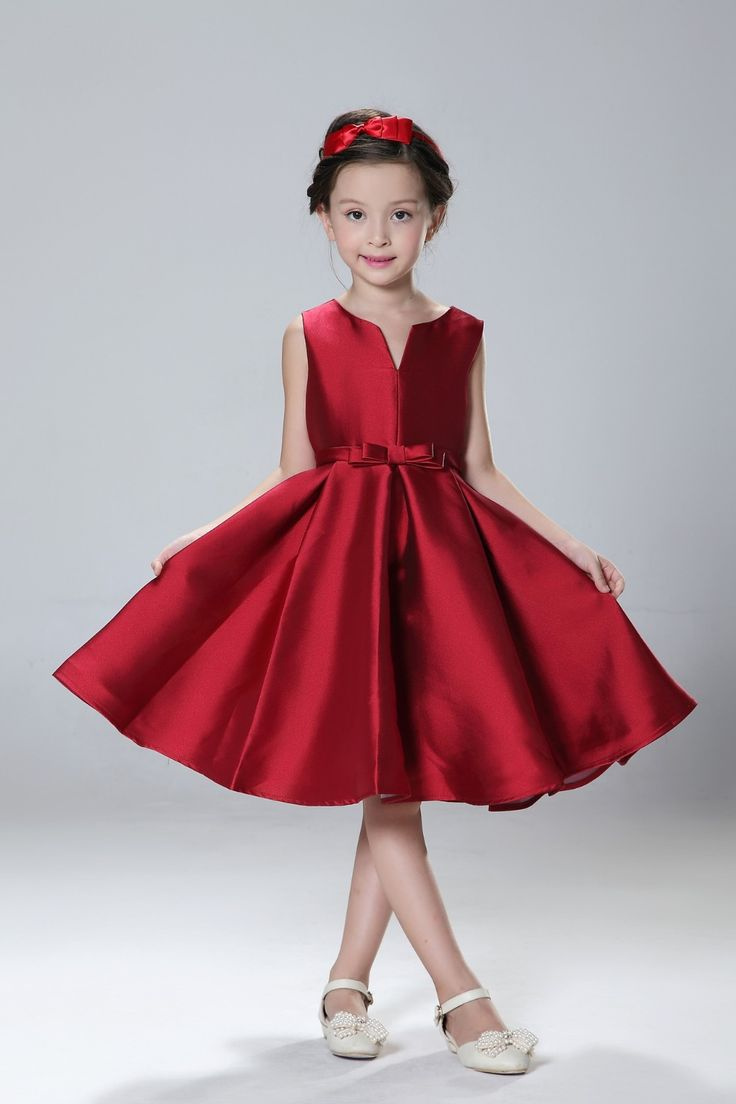 Robe rouge a gros pois