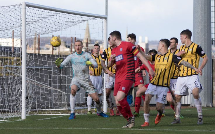 Queen's Park's Ryan McGeever has a shot during the Ladbrokes League One game between East Fife and Queen's Park.