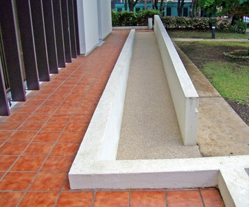 Entrance Steps, Stairs & Ramps by Rubaroc Rubber Safety Surfacing traditional outdoor products