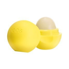 EOS lemon lip balm, the only one with SPF and it really works!