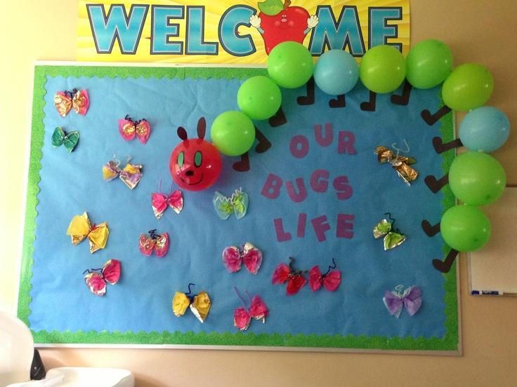 Classroom Door Decor For Spring ~ Bug bulletin board sonshine pinterest boards