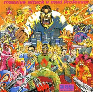 """Cover art from """"No Protection"""" - Massive Attack v Mad Professor (remixing and dubbing out MA's album """"Protection"""")."""
