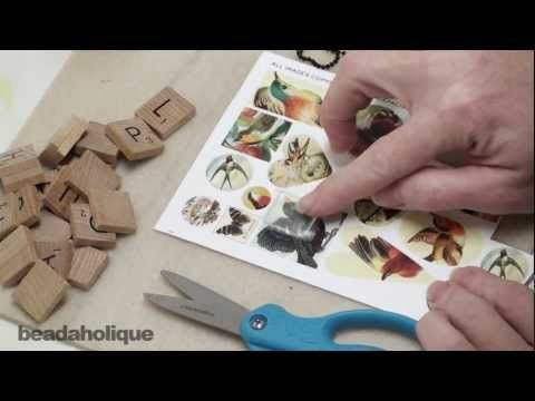 """How to Make """"Scrabble"""" Tile Pendants Using Epoxy Stickers"""