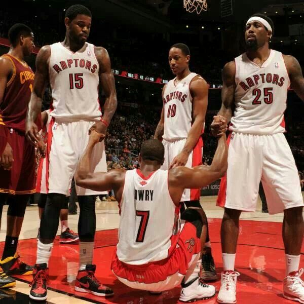 Toronto Raptors showing team effort.