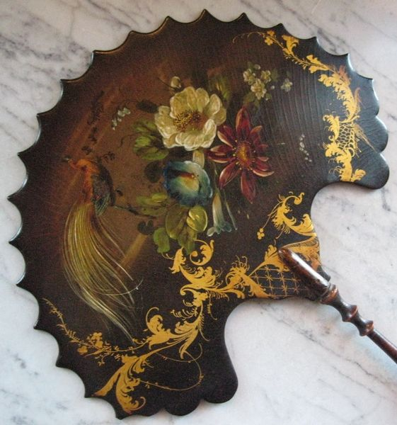 Antique PAIR OF VICTORIAN FACE SCREENS | ANTIQUES.CO.UK |http://www.antiques.co.uk/
