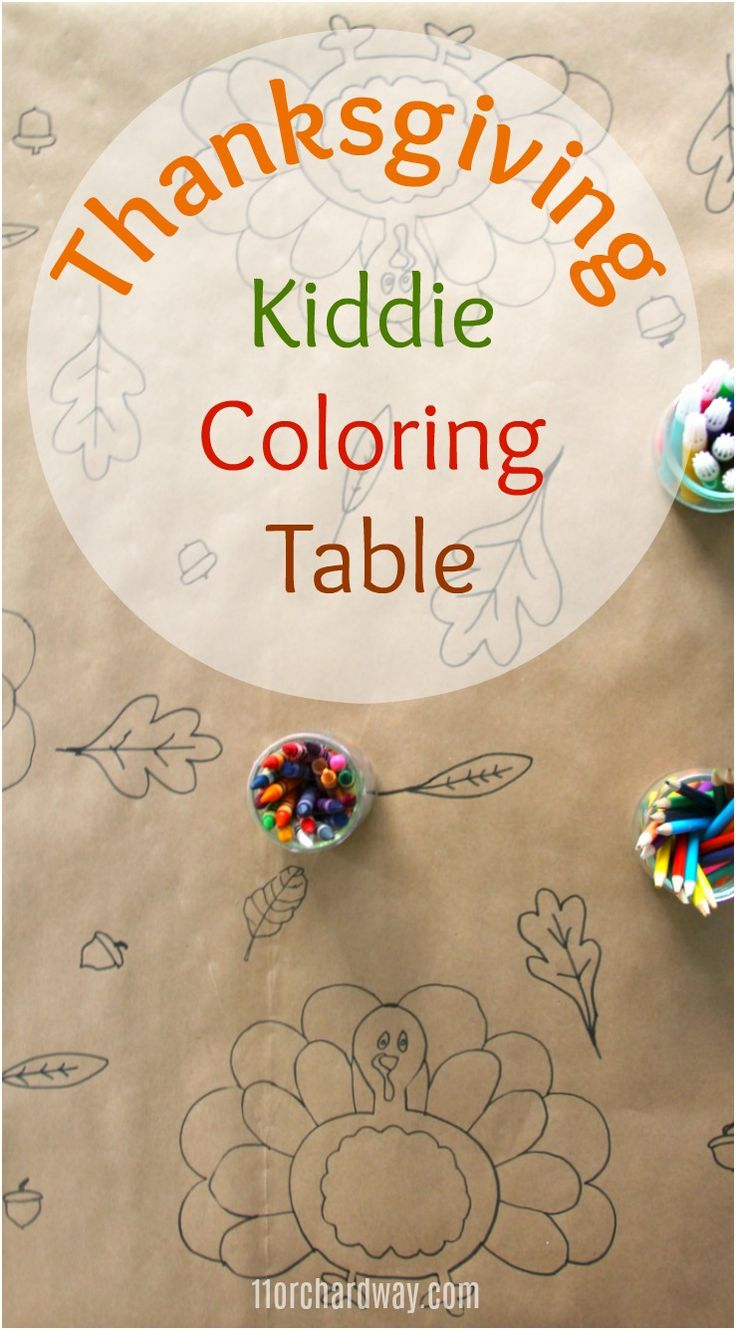Thanksgiving Kiddie Coloring Table