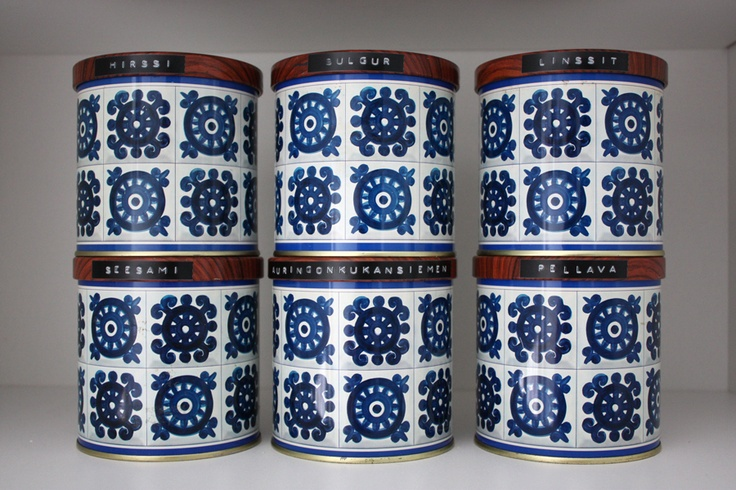 Retro Finnish spice tins