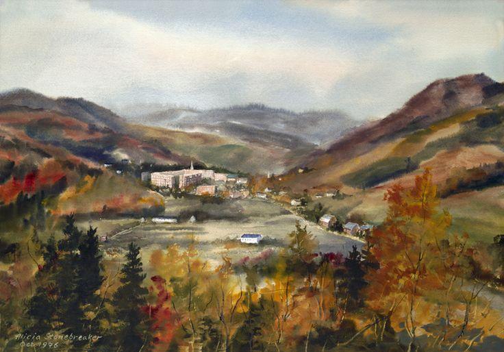 Alicia J. Stonebreaker Fine Art Gallery - Norwich University, Fall Semester, Northfield, Vermont, $43.00 (http://www.aliciajstonebreakergallery.com/norwich-university-fall-semester-northfield-vermont/)