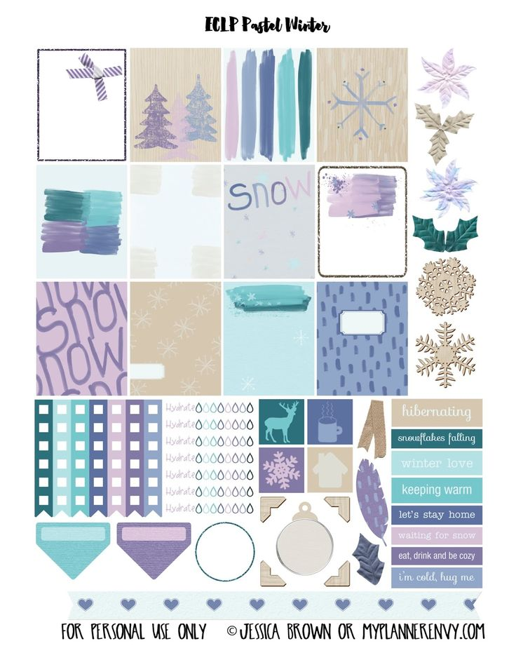 My Planner Envy: Pastel Winter Sampler - Free Planner Printable: