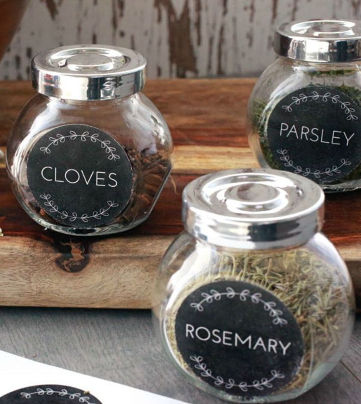 Printable spice jar labels organize your spices so you can find them in a flash! Our template and jars make this project a snap. - Everyday Dishes & DIY