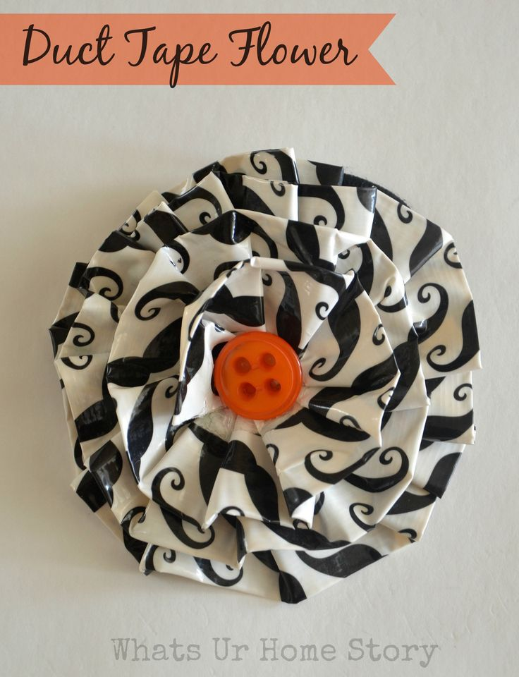 Duct tape flowers, Duct tape flower tutorial, how to make a duct tape flower, duct tape crafts