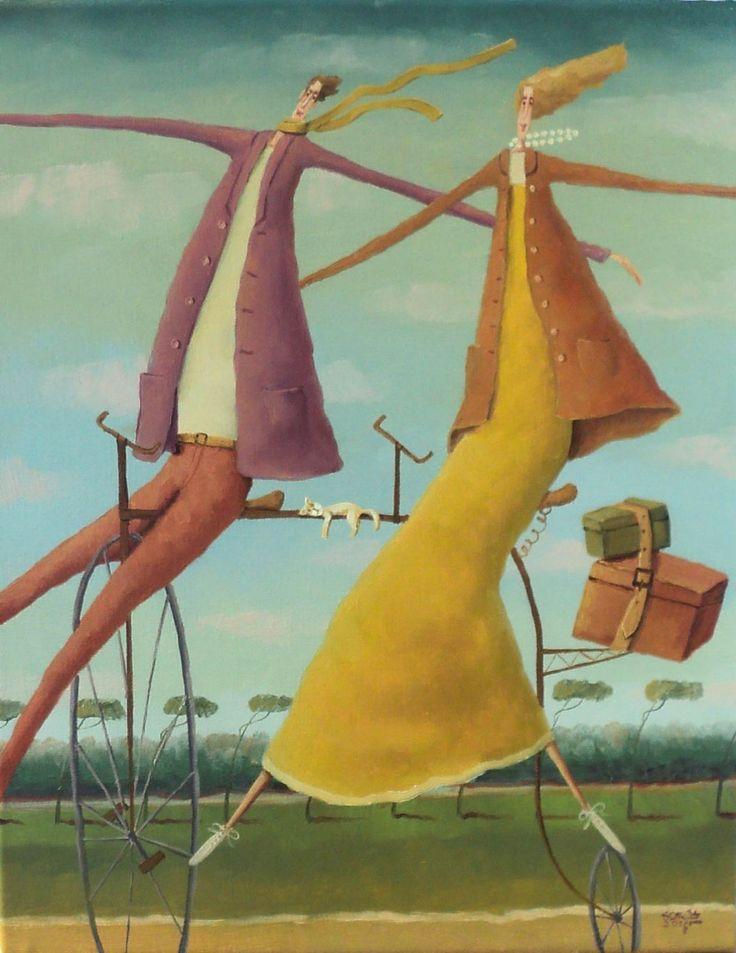 """ArtGalery ° PERSONALART.PL tytuł/title: """"Wiosenny tandem"""",autor: Leszek Sokół https://www.personalart.pl/leszek-sokol"""