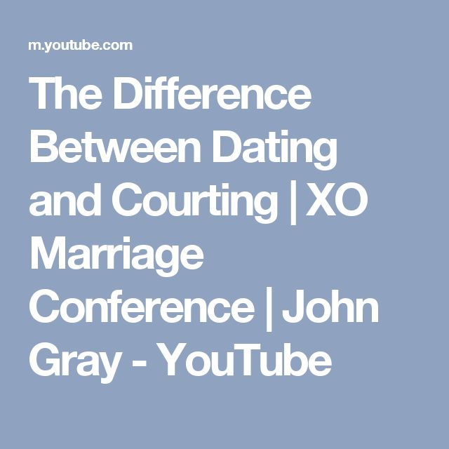 from Miguel whats the difference in dating and courting