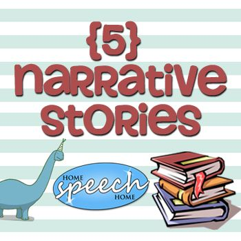 """5 Narrative Stories for Speech Therapy Practice.  Use these to analyze story grammar for personal narrative ( i.e., building to a high point followed by a conclusion) and examples for """"showing"""" not """"telling."""""""