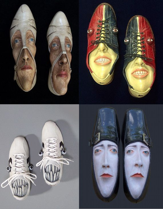 Shoe Sculptures. Creepy? Gloucestershire Resource Centre http://www.grcltd.org/home-resource-centre/