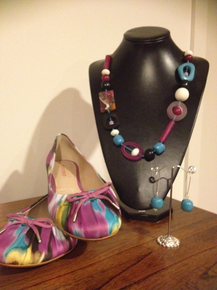 Hand made necklace made to go with these ballet flats