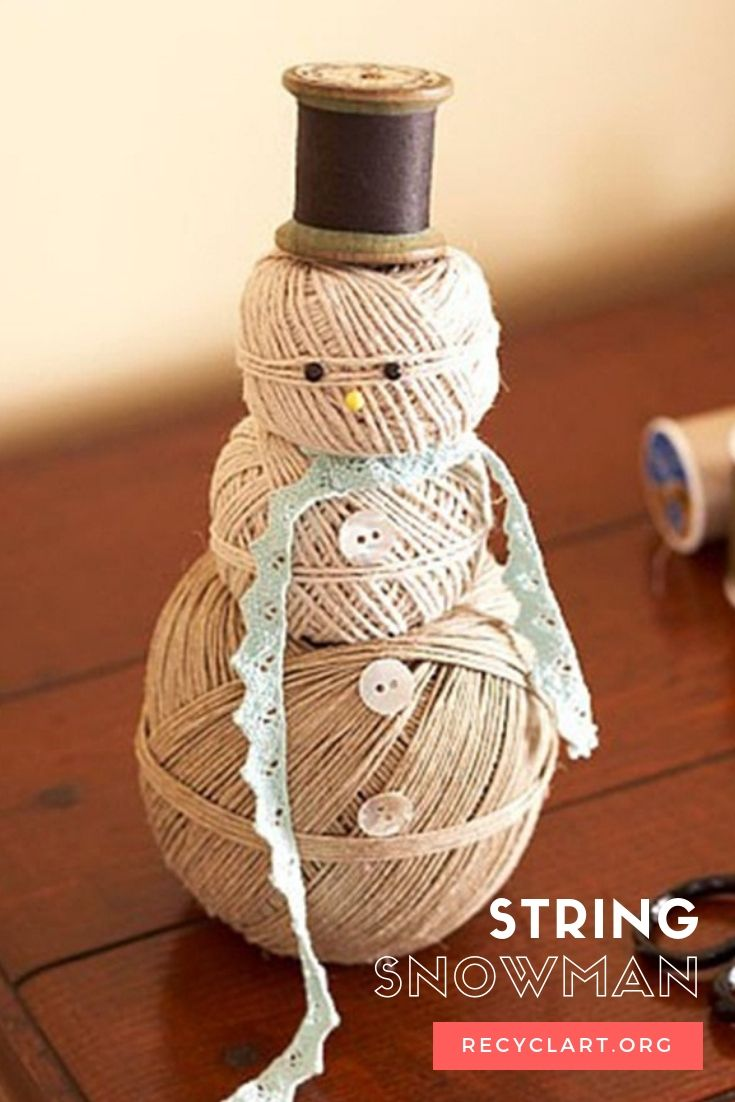 String Snowman Share Today S Craft And Diy Ideas Pinterest