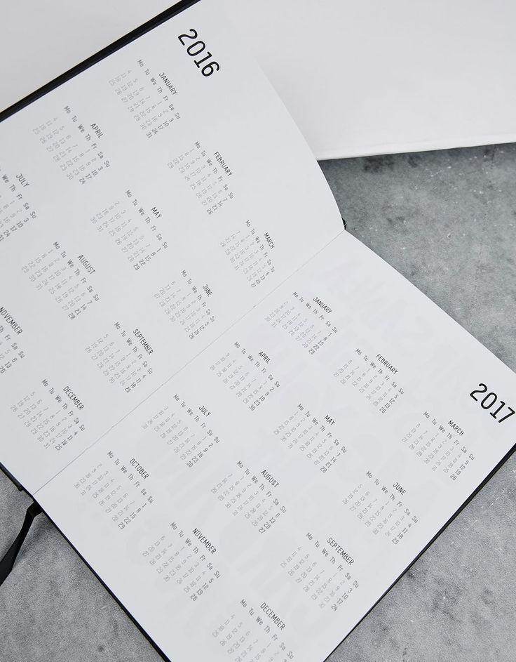 Kalendarz na rok 2017 - Artykuły papiernicze - Bershka Poland