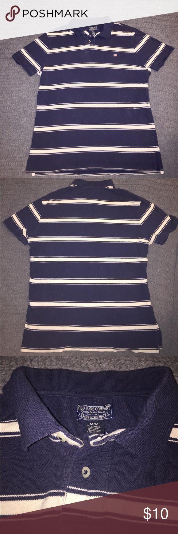 Ralph Lauren Blue & White Striped Polo Shirt Ralph Lauren Blue & White Striped Polo Shirt. Size M, used. Polo by Ralph Lauren Shirts Polos