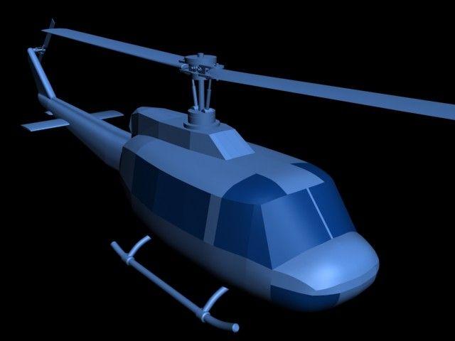 Free Bell212 Huey Bell 212 3D Model - 3D Model