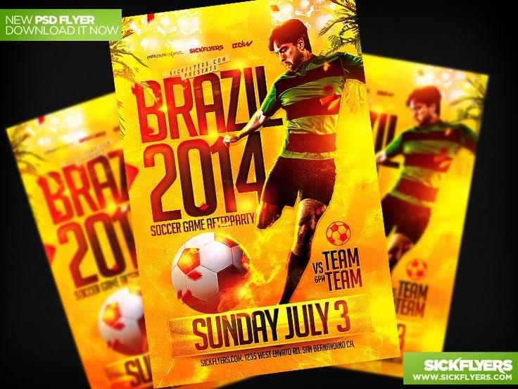Fifa World Cup Soccer Flyer Template PSD by Industrykidz