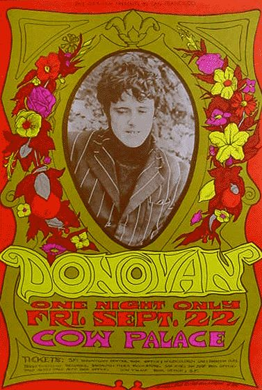Donovan at the Cow Palace, c 1967. By Bonnie MacLean