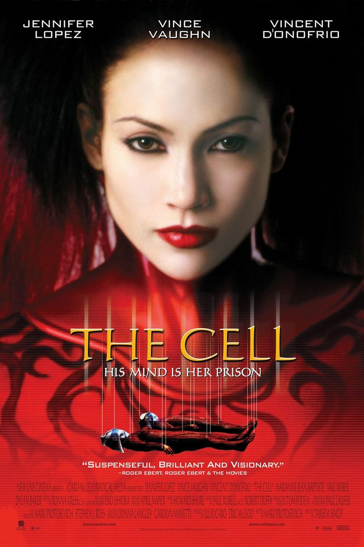 The Cell 2000 Movie Poster 27x40 Used Vince Vaughn, Jennifer Lopez