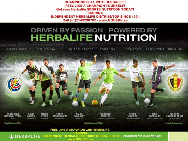 Herbalife is Official Sponsor of many teams and athletes at the CHAMPIONSHIPS in BRASIL!  All Herbalife products and nutritional/ beauty/success advice  available from: SABRINA INDEPENDENT HERBALIFE DISTRIBUTOR SINCE 1994 Helping you enjoy a healthy, active and successful life! https://www.goherbalife.com/goherb/