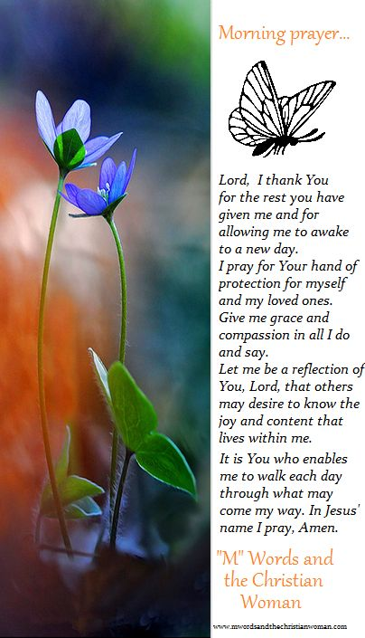 """""""M"""" Words, morning prayer for the woman of faith.  www.mwordsandthechristianwoman.com"""