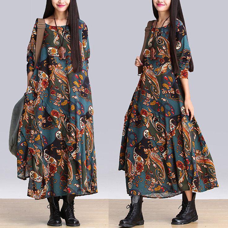 Print Dress  -Buykud -