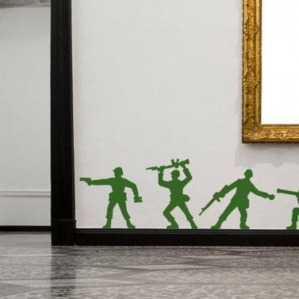 Toy story theme army soldier wall stickers/decal http://www.bouf.com/67794/toy-soldiers-wall-stickers.html