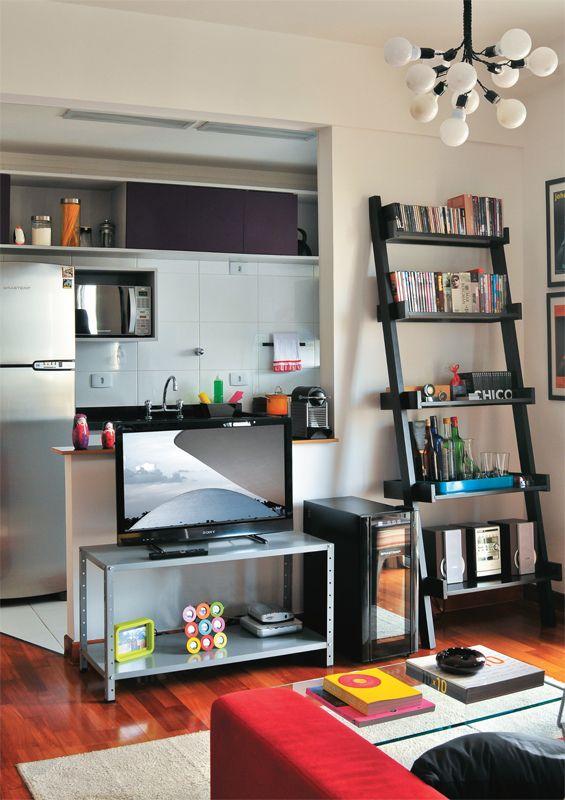 Ideia para divisão sala-cozinha 50 salas pequenas e cheias de estilo - Casa