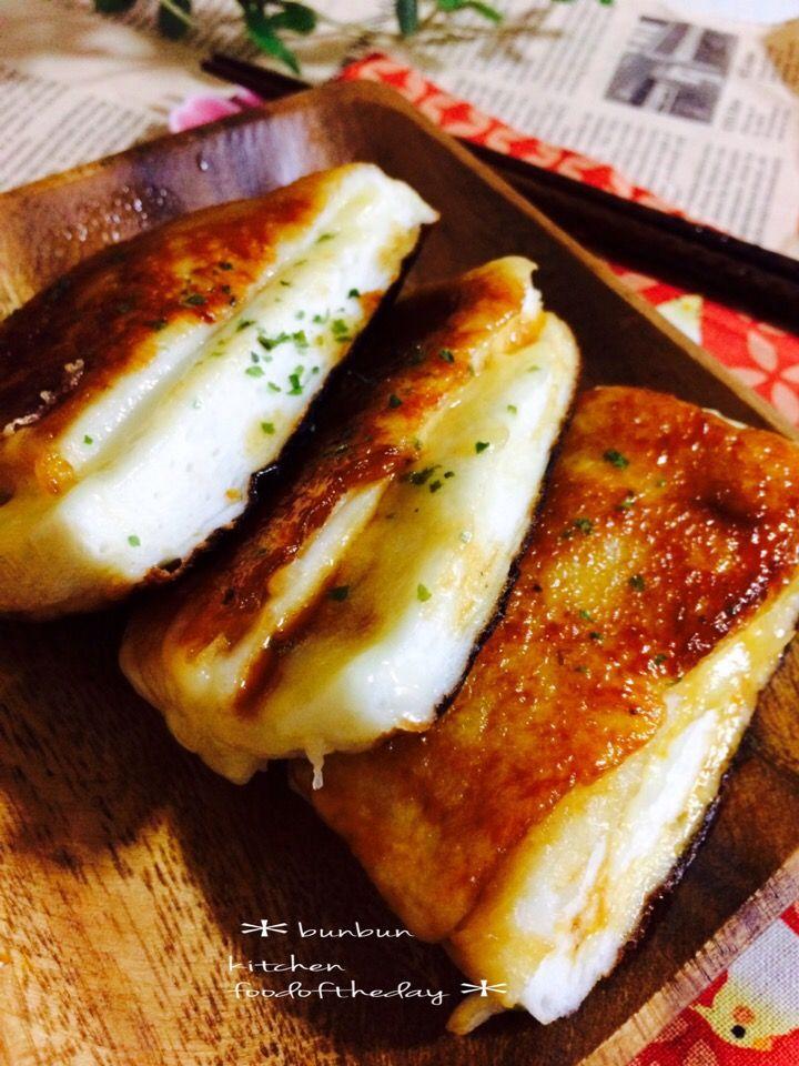ハナたな's dish photo すき焼きのタレでとろりんチーズはんぺん | http://snapdish.co #SnapDish #レシピ #簡単料理 #おつまみ #焼く/炒め物 #晩ご飯