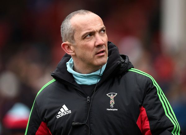 Conor O'Shea Photos Photos - Harlequins' Director of Rugby Conor O'Shea looks on during the LV=Cup match between Gloucester Rugby and Harlequins at Kingsholm Stadium on February 07, 2015 in Gloucester, England. - Gloucester Rugby v Harlequins - LV= Cup