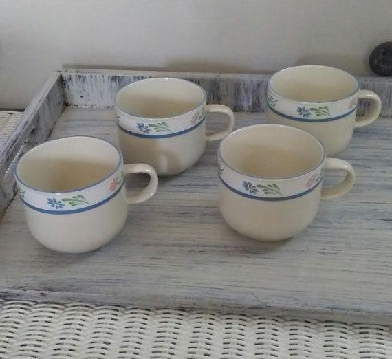 Check out this item in my Etsy shop https://www.etsy.com/listing/501390408/stoneware-coffee-cup-set-blue-and-white
